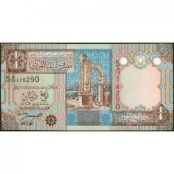 Libye - Pick 62 - 1/4 dinar - 2002 - Série 5E/14 - Etat : NEUF