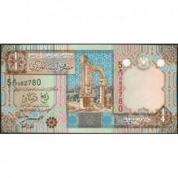 Libye - Pick 62 - 1/4 dinar - 2002 - Série 5E/17 - Etat : NEUF