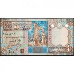 Libye - Pick 62 - 1/4 dinar - 2002 - Série 5E/29 - Etat : NEUF
