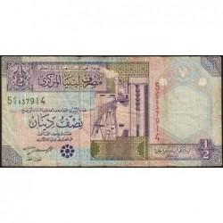 Libye - Pick 63 - 1/2 dinar - 2002 - Série 5D/9 - Etat : TB-