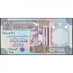 Libye - Pick 63 - 1/2 dinar - 2002 - Série 5D/22 - Etat : NEUF