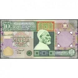 Libye - Pick 66 - 10 dinars - 2002 - Série 5A/58 - Etat : SUP-