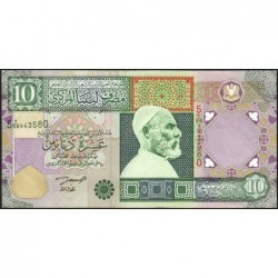 Libye - Pick 66 - 10 dinars - Série 5A/58 - 2002 - Etat : SUP-