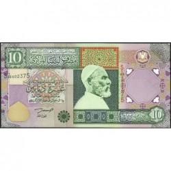 Libye - Pick 66 - 10 dinars - 2002 - Série 5A/89 - Etat : NEUF
