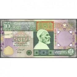 Libye - Pick 66 - 10 dinars - 2002 - Série 5A/96 - Etat : TTB+