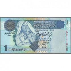 Libye - Pick 68a - 1 dinar - 2004 - Série 6C/5 - Etat : NEUF