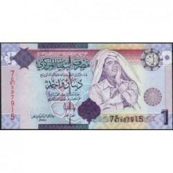 Libye - Pick 71 - 1 dinar - Série 7C/51 - 2009 - Etat : NEUF