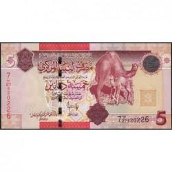 Libye - Pick 72 - 5 dinars - 2009 - Série 7B/27- Etat : NEUF