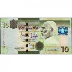 Libye - Pick 73 - 10 dinars - 2009 - Série 7A/141- Etat : NEUF