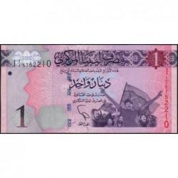 Libye - Pick 76 - 1 dinar - 2013 - Série 1A/1 - Etat : NEUF