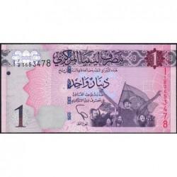 Libye - Pick 76 - 1 dinar - 2013 - Série 1A/2 - Etat : NEUF