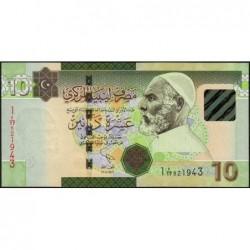 Libye - Pick 78Aa - 10 dinars - Série 7A/17- 2011 - Etat : NEUF