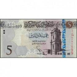 Libye - Pick 81 - 5 dinars - 2015 - Série 1B/16- Etat : NEUF