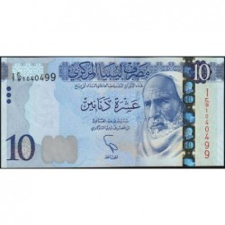 Libye - Pick 82 - 10 dinars - 2015 - Série 1C/9- Etat : NEUF