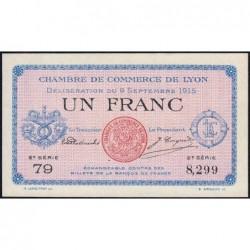 Lyon - Pirot 77-6 - 1 franc - 2e série 79 - 09/09/1915 - Etat : SPL