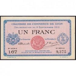 Lyon - Pirot 77-6 - 1 franc - 2e série 167 - 09/09/1915 - Etat : SPL+