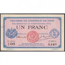 Lyon - Pirot 77-6 - 1 franc - 2e série 198 - 09/09/1915 - Etat : SPL