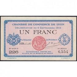 Lyon - Pirot 77-6 - 1 franc - 2e série 226 - 09/09/1915 - Etat : SUP+