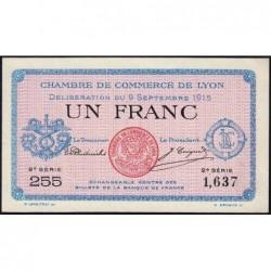 Lyon - Pirot 77-6 - 1 franc - 2e série 255 - 09/09/1915 - Etat : SPL