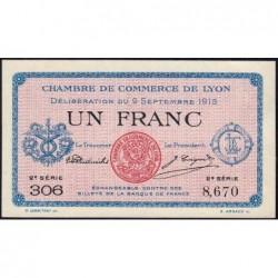 Lyon - Pirot 77-6 - 1 franc - 2e série 306- 09/09/1915 - Etat : NEUF