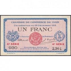 Lyon - Pirot 77-13 - 1 franc - 4e série 930 - 28/12/1916 - Etat : SUP+