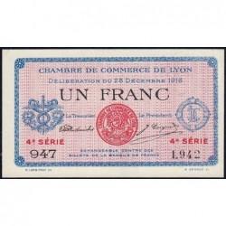 Lyon - Pirot 77-13 - 1 franc - 4e série 947 - 28/12/1916 - Etat : SPL