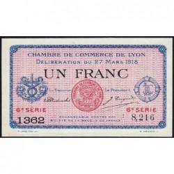 Lyon - Pirot 77-17 - 1 franc - 6e série 1362 - 27/03/1918 - Etat : SPL