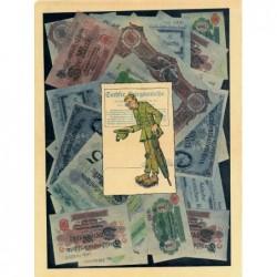 Allemagne - Affiche caricaturale sur l'hyperinflation monétaire - 1924 - Etat : SUP