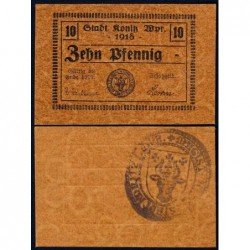 Pologne - Notgeld - Konitz (Chojnice) - 10 pfennig - Type d3 - 1918 - Etat : NEUF