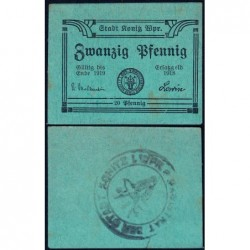 Pologne - Notgeld - Konitz (Chojnice) - 20 pfennig - Type b1 - 1918 - Etat : SPL