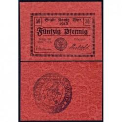 Pologne - Notgeld - Konitz (Chojnice) - 50 pfennig - Type b3 - 1918 - Etat : NEUF