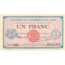 Lyon - Pirot 77-1a - 1 franc - 1914 - Etat : SUP+