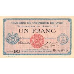 Lyon - Pirot 77-1b - 1 franc - Série 90 - 14/08/1914 - Etat : NEUF
