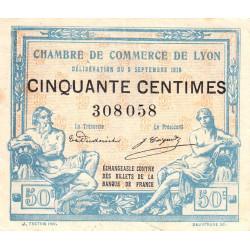 Lyon - Pirot 77-3 - 50 centimes - Sans série - 09/09/1915 - Etat : TTB