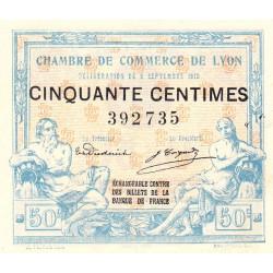 Lyon - Pirot 77-3 - 50 centimes - Sans série - 09/09/1915 - Etat : SUP+