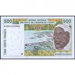 Mali - Pick 410Dn - 500 francs - 2003 - Etat : pr.NEUF