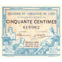 Lyon - Pirot 77-3 - 50 centimes - Sans série - 09/09/1915 - Etat : SPL