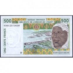Mali - Pick 410Dn - 500 francs - 2003 - Etat : SPL