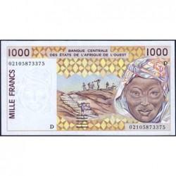 Mali - Pick 411Dl - 1'000 francs - 2002 - Etat : TTB+