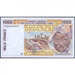 Mali - Pick 411Dm - 1'000 francs - 2003 - Etat : NEUF