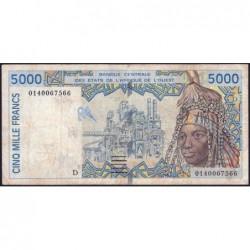 Mali - Pick 413Dj - 5'000 francs - 2001 - Etat : TB-