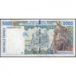Mali - Pick 413Dk - 5'000 francs - 2002 - Etat : TB+