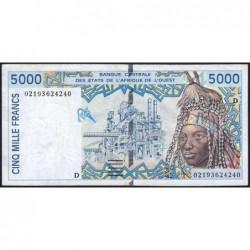 Mali - Pick 413Dk - 5'000 francs - 2002 - Etat : TTB