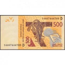 Mali - Pick 419Dc - 500 francs - 2014 - Etat : NEUF