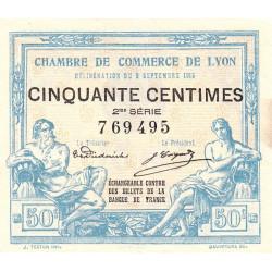 Lyon - Pirot 77-4 - 50 centimes - 2me série - 09/09/1915 - Etat : SUP