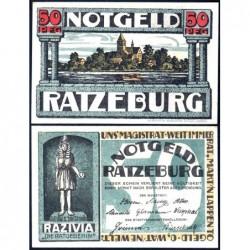 Allemagne - Notgeld - Ratzeburg - 50 pfennig - 1921 - Etat : SPL