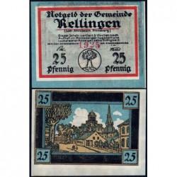 Allemagne - Notgeld - Rellingen - 25 pfennig - 1921 - Etat : NEUF