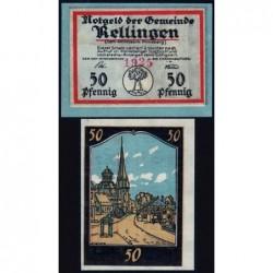 Allemagne - Notgeld - Rellingen - 50 pfennig - 1921 - Etat : NEUF
