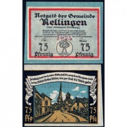 Allemagne - Notgeld - Rellingen - 75 pfennig - 1921 - Etat : NEUF
