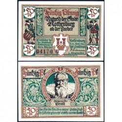 Allemagne - Notgeld - Rothenburg-ob-der-Taubel - 50 pfennig - Série I - 24/06/1921 - Etat : NEUF